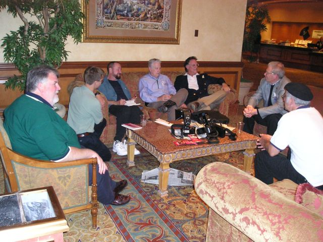 Ingo Swann holding court at a remote viewing conference