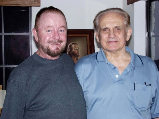 Ingo Swann with Cleve Backster, 2002