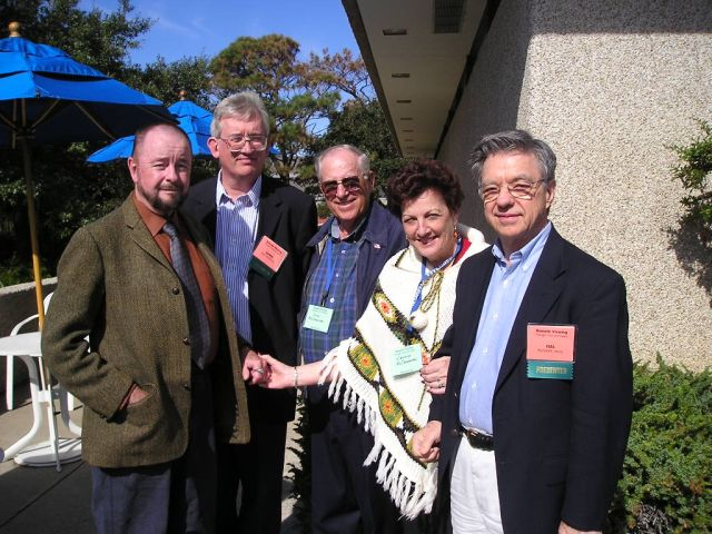 Ingo Swann with James Spottiswoode, Hal Puthoff, and John and Virginia McCaughan
