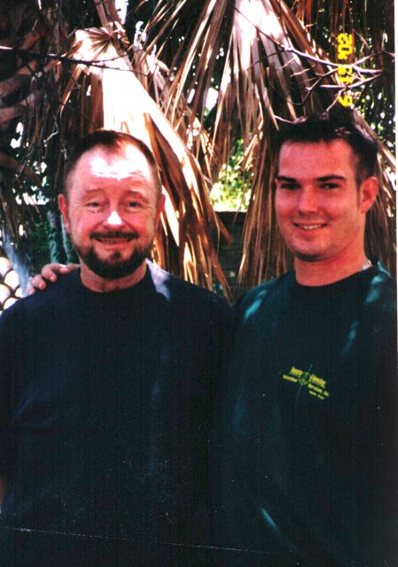 Ingo Swann with Paul H. Smith's son James, 2002