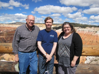 Intermediate Controlled Remote Viewing Course photo of students with Paul H. Smith at Cedar Breaks National Monument